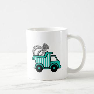 Camión volquete del portador de anillo taza
