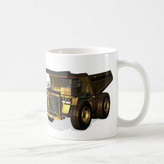 Camión volquete gigante taza de café