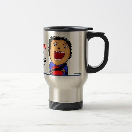 Camionero loco de encargo taza de café