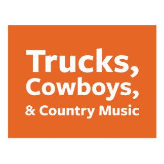 Camiones, vaqueros y música country postal