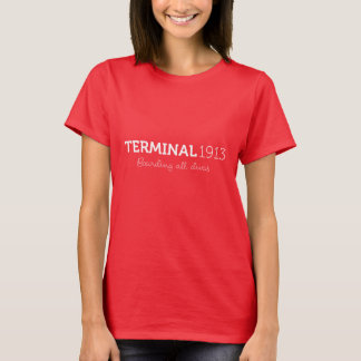 Camiseta Camisa 1913 del terminal en rojo