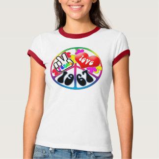 Camisa 1967 del amor de la paz