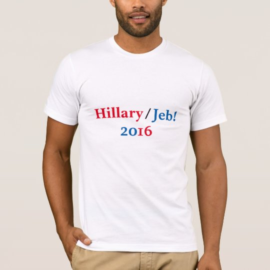 Camisa 2016 de Hillary/de Jeb