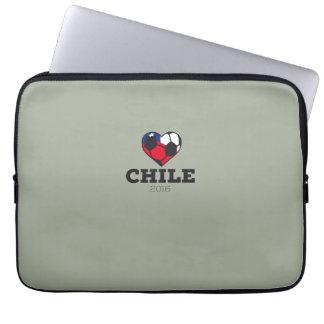 Camisa 2016 del fútbol de Chile Funda Para Ordenador