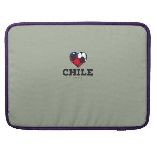 Camisa 2016 del fútbol de Chile Fundas Para Macbooks