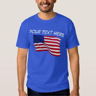 Camisa adaptable de la bandera americana para los
