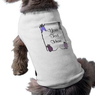 Camisa adaptable del perro del amor del ratón camiseta sin mangas para perro