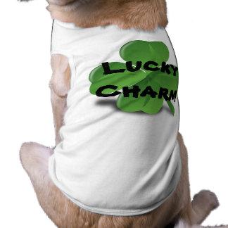 Camisa afortunada del encanto del mascota