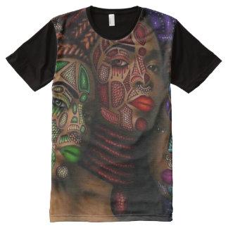 Camisa africana del diseño del arte de la mujer camisetas con estampado integral