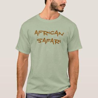 Camisa africana del gris del safari