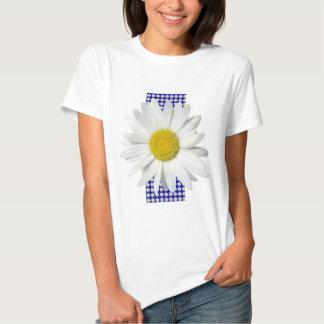 Camisa alegre de la margarita blanca