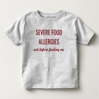 Camisa alerta médica severa de las alergias