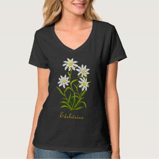 Camisa alpina de las flores de Edelweiss del suizo