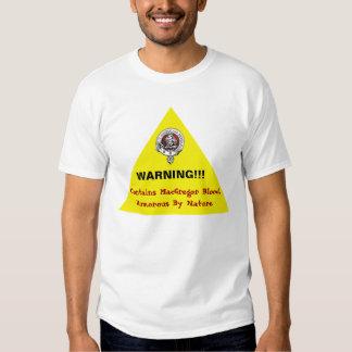 ¡Camisa amonestadora chistosa de MacGregor! Camisetas