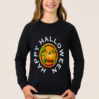 Camisa anaranjada de Halloween de la calabaza