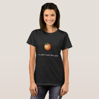Camisa anaranjada del retruécano