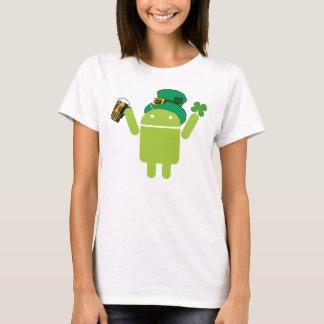Camisa androide verde del Leprechaun de las
