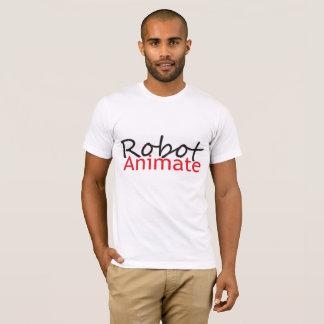 camisa animada de los hombres del robot