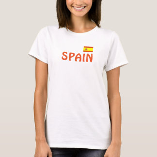 Camisa atlética del diseño de España
