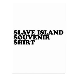 Camisa auxiliar del recuerdo de la isla postal