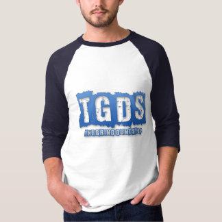 Camisa azul/blanca de la manga larga de TGDS