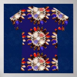 Camisa AZUL de la sol CHAKRA - REGALOS FELICES de Póster