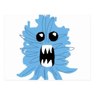 Camisa azul del bebé del monstruo postal