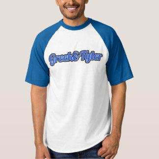 Camisa azul del béisbol de Greek&Tyler