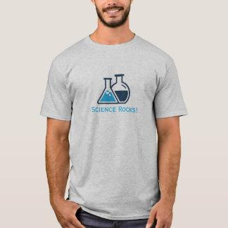 Camisa azul del diseño de las rocas de la ciencia