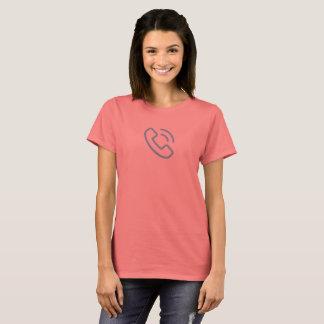 Camisa azul simple del icono de la llamada de