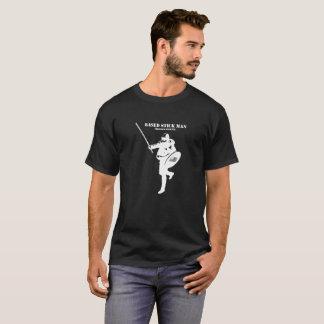Camisa blanca basada del logotipo del stickman