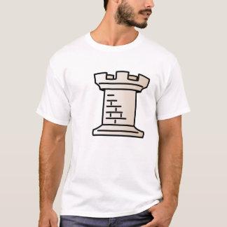 Camisa blanca del grajo del ajedrez