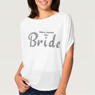 Camisa bling de la novia