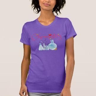 Camisa bonita de la química con el gráfico del