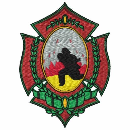 Camisa bordada bombero sudadera bordada