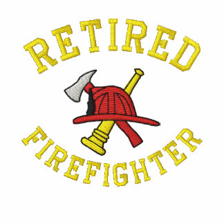 Camisa bordada bombero jubilada sudadera con capucha