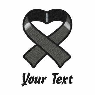 Camisa bordada cinta negra sudadera bordada con serigrafia