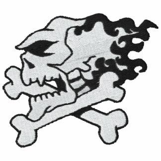 Camisa bordada cráneo de encargo chaqueta de deporte bordada