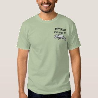 Camisa bordada de la gestión de desechos