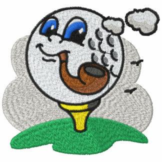 Camisa bordada de la pelota de golf del tubo que f