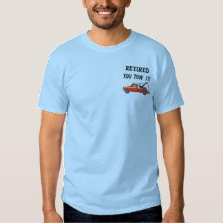 Camisa bordada del conductor de grúa