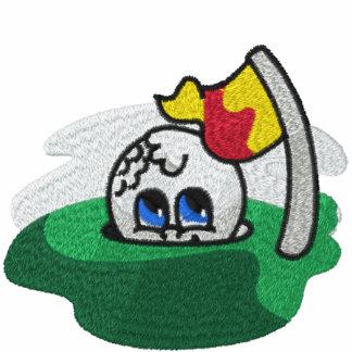 Camisa bordada del golf
