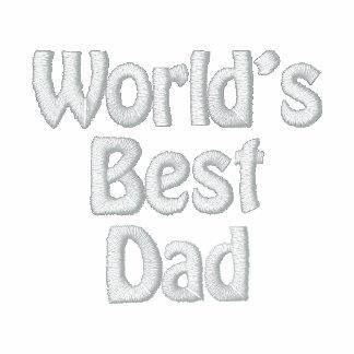Camisa bordada el mejor papá del golf del mundo polo