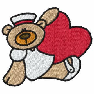 Camisa bordada enfermera del oso de peluche