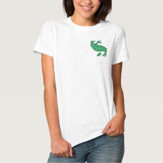 Camisa bordada Gecko verde