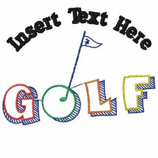 Camisa bordada golf de encargo camiseta polo