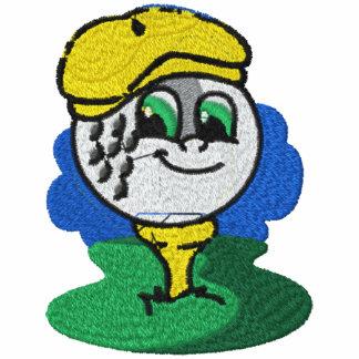 Camisa bordada golf para mujer encapuchada bordada