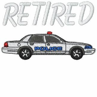 Camisa bordada jubilada del oficial de policía sudadera bordada con capucha y cremallera
