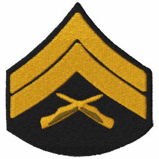 Camisa bordada militares sudadera bordada