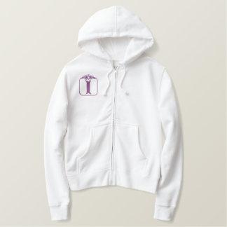 Camisa bordada monograma del ángel de la letra I